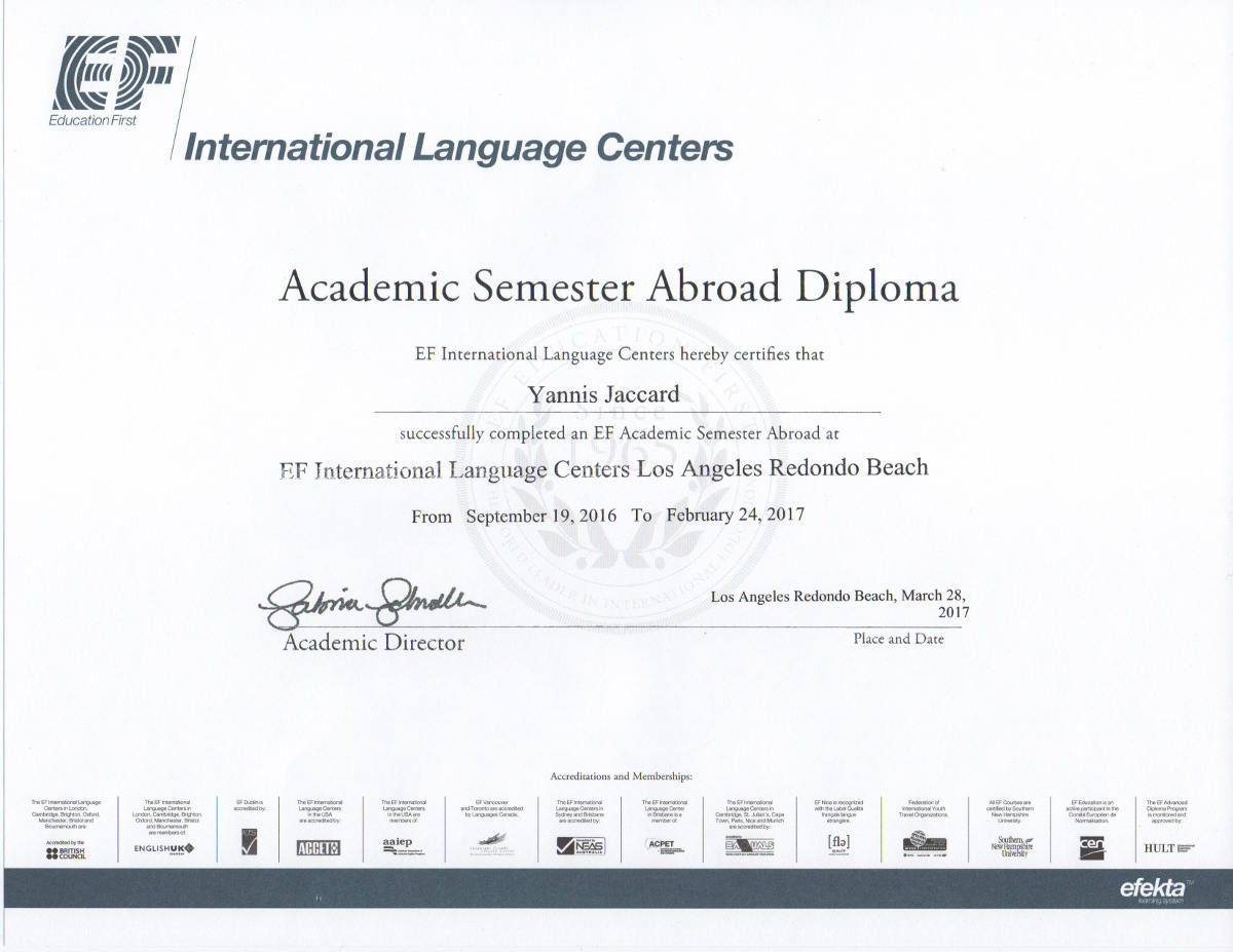 Diploma EF international language